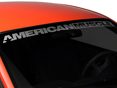 AmericanMuscle Windshield Banner - Frosted (94-04 All)