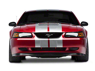 Silver GT500 Style Stripes - 10 in. (94-04 All)