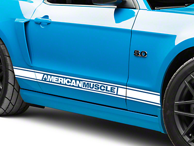 White Rocker Stripes w/ AmericanMuscle (05-14 All)
