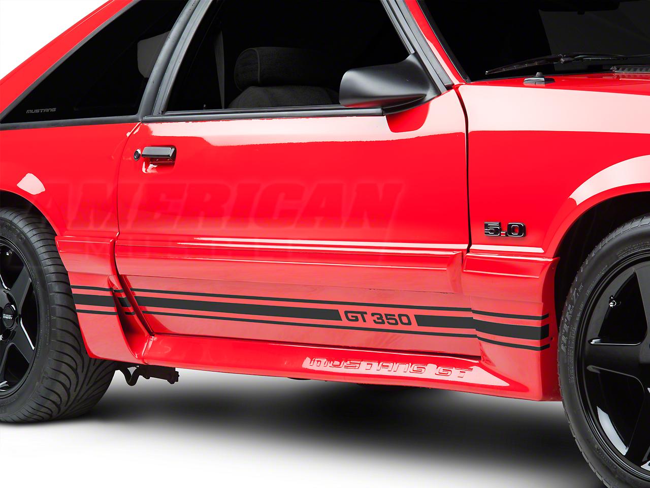 Matte Black Rocker Stripes w/ GT350 (79-93 All)
