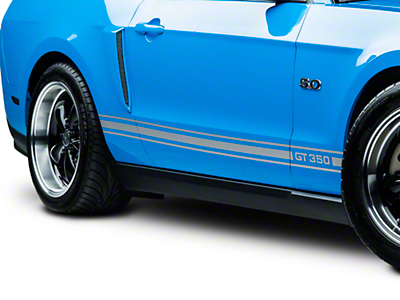 Silver Rocker Stripes w/ GT350 (05-14 All)