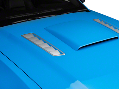 Hood Vent Accent Decal - Silver (13-14 All)