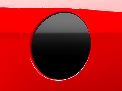 Fuel Door Cover Decal - Gloss Black (10-14 All)