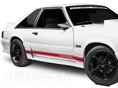 Red Rocker Stripes w/ Mustang Lettering (79-93 All)