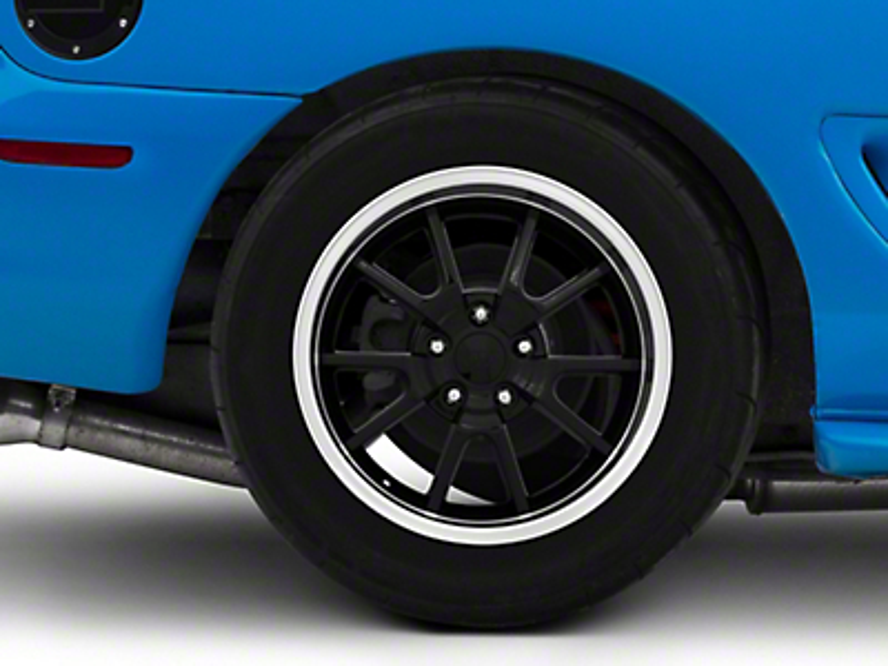 Deep Dish FR500 Style Black Wheel - 17x10.5 (94-04 All)