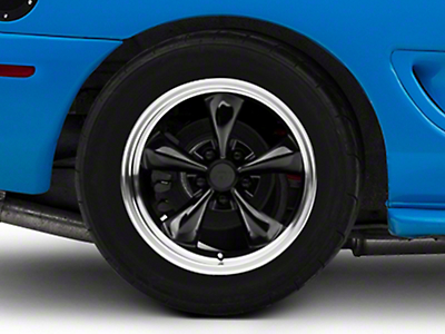 Deep Dish Bullitt Black Wheel - 17x10.5 (94-04 All)