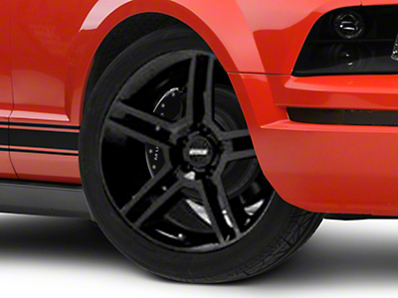 2010 GT500 Style Black Wheel - 19x8.5 (05-14 All)