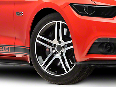2010 GT500 Style Black Machined Wheel - 19x8.5 (15-17 All)