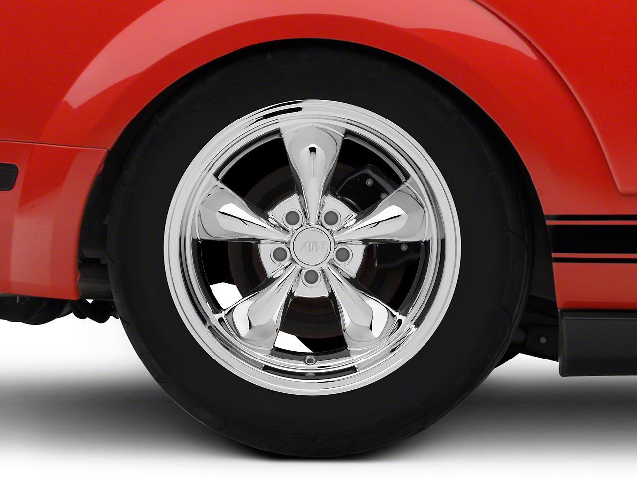 Deep Dish Bullitt Chrome Wheel - 18x10 (05-14 GT, V6)