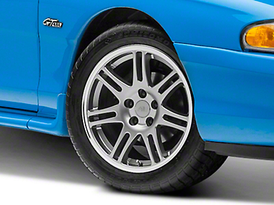 10th Anniversary Cobra Style Anthracite Wheel - 17x9 (94-04 All)