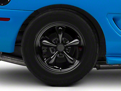 Deep Dish Bullitt Solid Black Wheel - 17x10.5 (94-04 All)