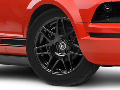 Forgestar F14 Monoblock Piano Black Wheel - 18x9 (15-17 Ecoboost, V6)