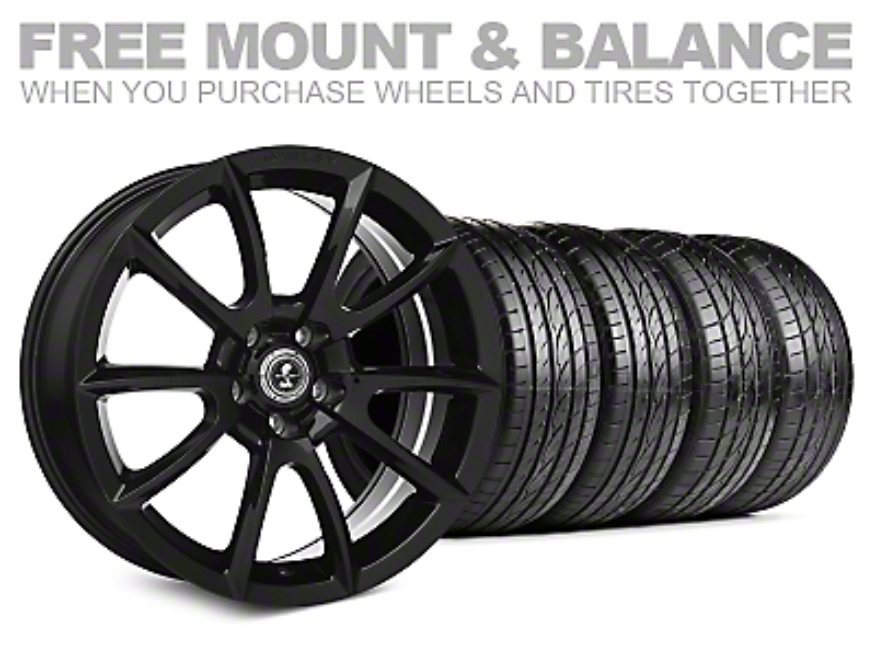 Shelby Super Snake Style Black Wheel & Sumitomo Tire Kit - 19x8.5 (05-14 All)