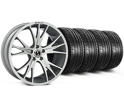 Shelby CS1 Hyper Silver Wheel & Mickey Thompson Tire Kit - 20x9 (05-14)