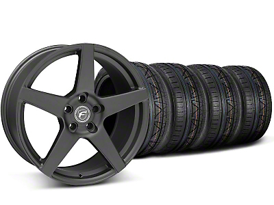 Staggered Forgestar CF5 Matte Black Wheel & NITTO INVO Tire Kit - 20x9/11 (05-14 All)