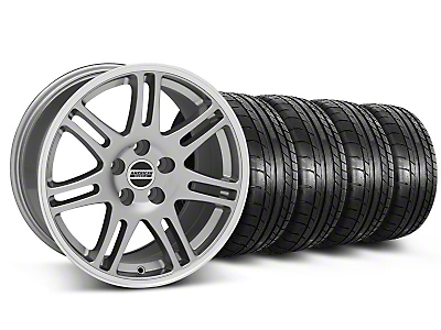 Staggered 10th Anniversary Cobra Style Anthracite Wheel & Mickey Thompson Tire Kit - 17x9/10.5 (99-04 All)