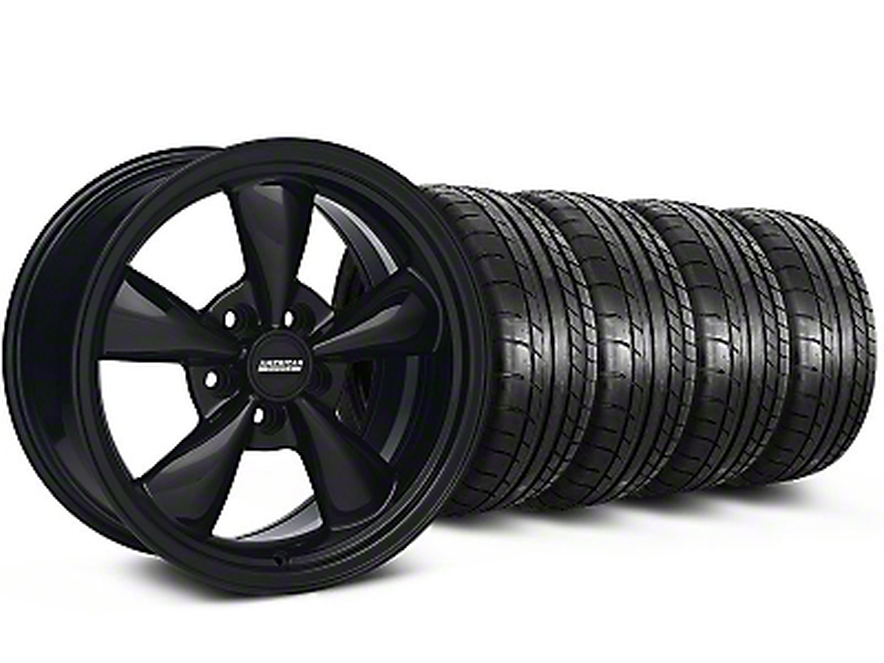 Staggered Bullitt All Black Wheel & Mickey Thompson Tire Kit - 17x9/10.5 (99-04 All)
