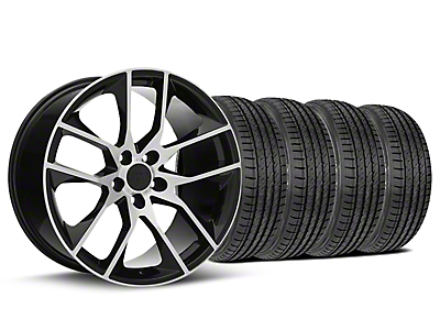 2015 Mustang GT Style Black Machined Wheel & Sumitomo Tire Kit - 19x8.5 (05-14 GT, V6)