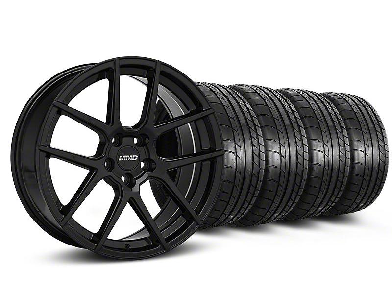 MMD Zeven Black Wheel & Mickey Thompson Tire Kit - 19x8.5 (05-14 All)
