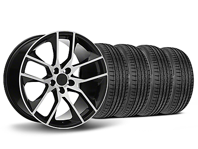 Staggered 2015 Mustang GT Style Black Machined Wheel & Sumitomo Tire Kit - 19x8.5/10 (05-14 All)