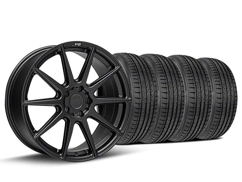 Staggered Niche Essen Matte Black Wheel & Sumitomo Tire Kit - 19x8.5/10 (05-14 All)