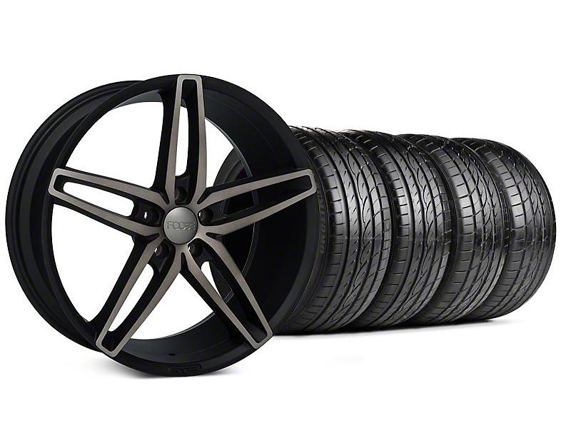 Staggered Foose Stallion Double Dark Wheel & Sumitomo Tire Kit - 20x8.5/10 (05-14 All)