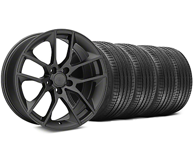 Staggered 2015 Mustang GT Style Charcoal Wheel & Sumitomo Tire Kit - 20x8.5/10 (05-14)