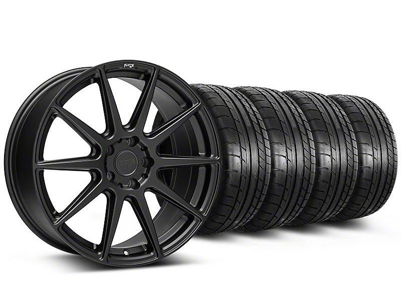 Staggered Niche Essen Matte Black Wheel & Mickey Thompson Tire Kit - 20x9/10 (05-14 All)