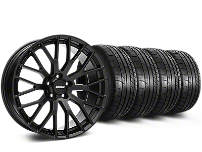 Staggered Performance Pack Style Black Wheel & Mickey Thompson Tire Kit - 20x8.5/10 (05-14)