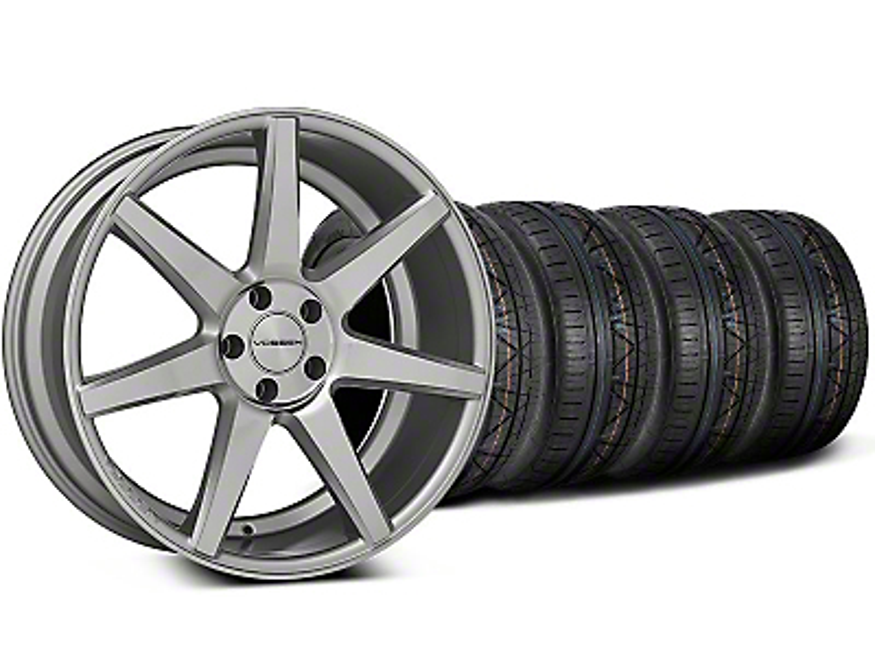 CV7 Silver Polished Wheel & NITTO INVO Tire Kit - 20x9 (05-14 All)