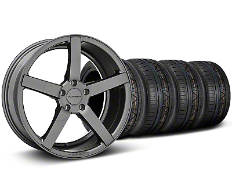 Staggered CV3-R Graphite Wheel & NITTO INVO Tire Kit - 20x9/10.5 (05-14 All)