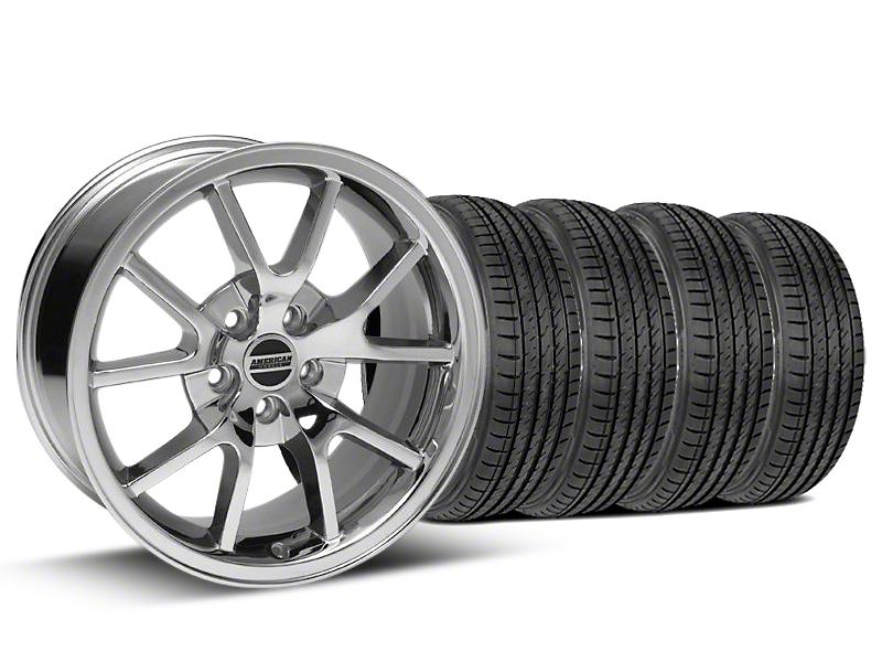 FR500 Style Chrome Wheel & Sumitomo Tire Kit - 17x9 (99-04)