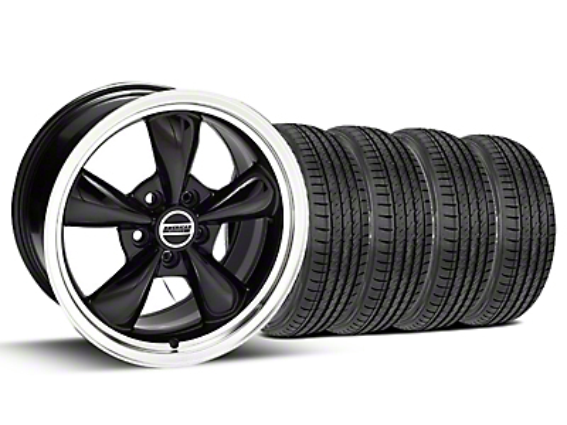 Bullitt Black Wheel & Sumitomo Tire Kit - 17x9 (99-04)