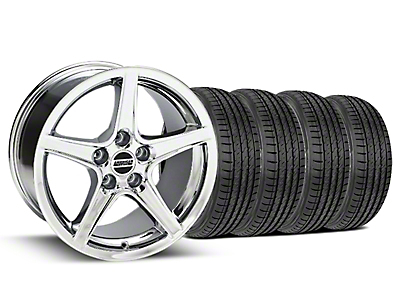 Saleen Style Chrome Wheel & Sumitomo Tire Kit - 17x9 (99-04)