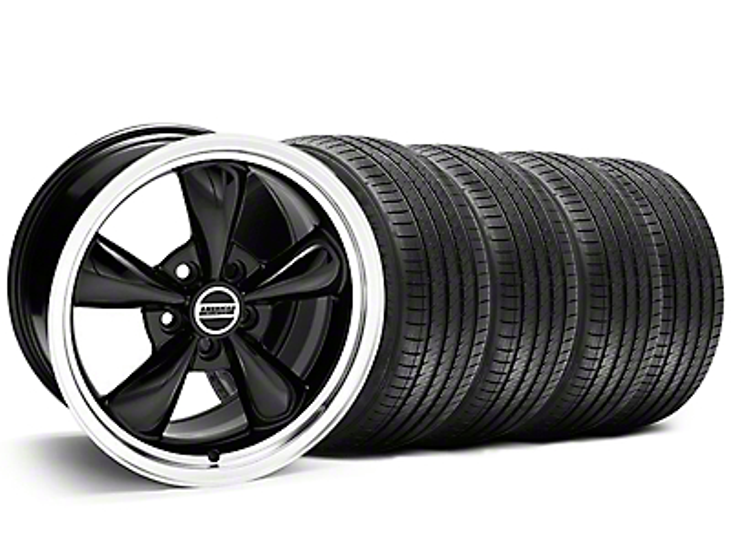 Staggered Bullitt Black Wheel & Sumitomo Tire Kit - 20x8.5/10 (05-14 V6; 05-10 GT)