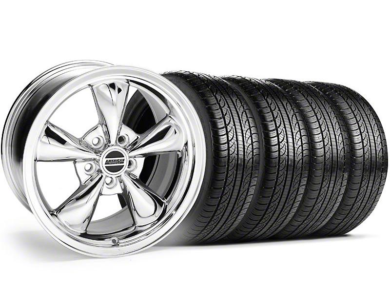 Bullitt Chrome Wheel & Pirelli Tire Kit - 19x8.5 (05-14 GT, V6)