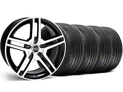 2010 GT500 Style Black Machined Wheel & Sumitomo Tire Kit - 18x9 (05-14)