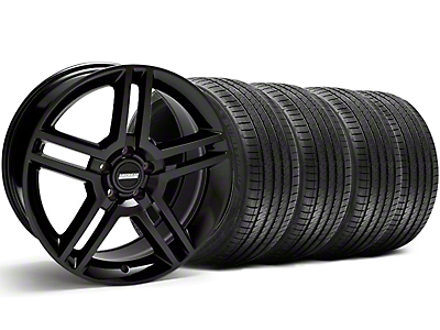 Staggered 2010 GT500 Style Black Wheel & Sumitomo Tire Kit - 18x9/10 (05-14)