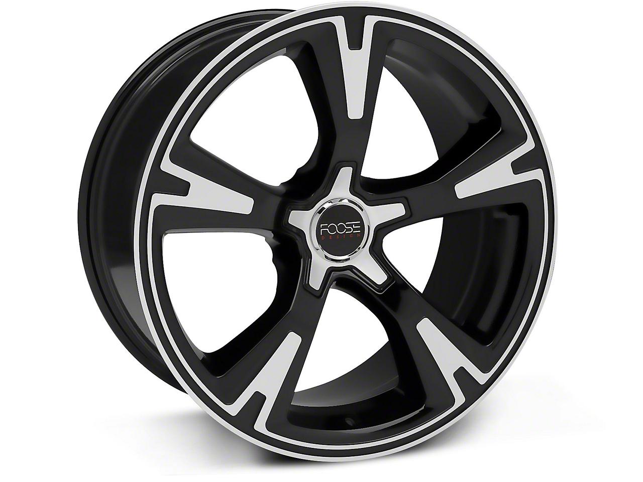 Foose RS Black Machined Wheel - 20x10 (05-14 All)
