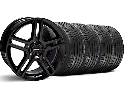 Staggered 2010 GT500 Style Black Wheel & Sumitomo Tire Kit - 18x9/10 (99-04)