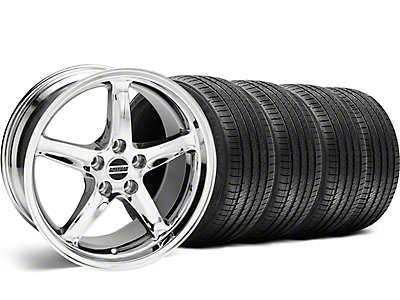 1995 Cobra R Style Chrome Wheel & Sumitomo Tire Kit - 18x9 (99-04)