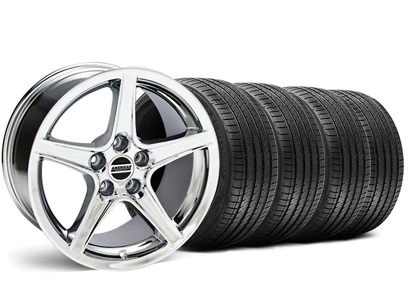 Saleen Style Chrome Wheel & Sumitomo Tire Kit - 18x9 (05-14 GT, V6)