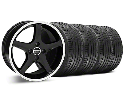 1995 Cobra R Style Black Wheel & Sumitomo Tire Kit - 17x8 (87-93; Excludes 93 Cobra)