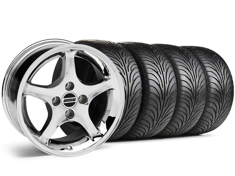 1995 Cobra R Style Chrome Wheel & Sumitomo Tire Kit - 17x9 (87-93; Excludes 93 Cobra)