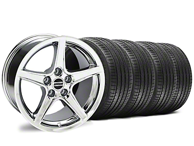 Saleen Style Chrome Wheel & Sumitomo Tire Kit - 18x9 (94-98 All)