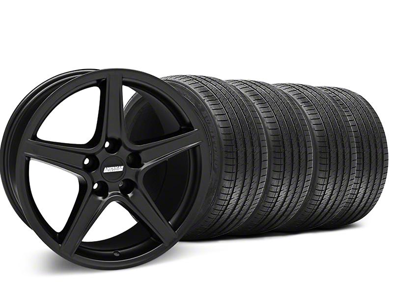 Saleen Style Matte Black Wheel & Sumitomo Tire Kit - 18x9 (05-14 GT, V6)