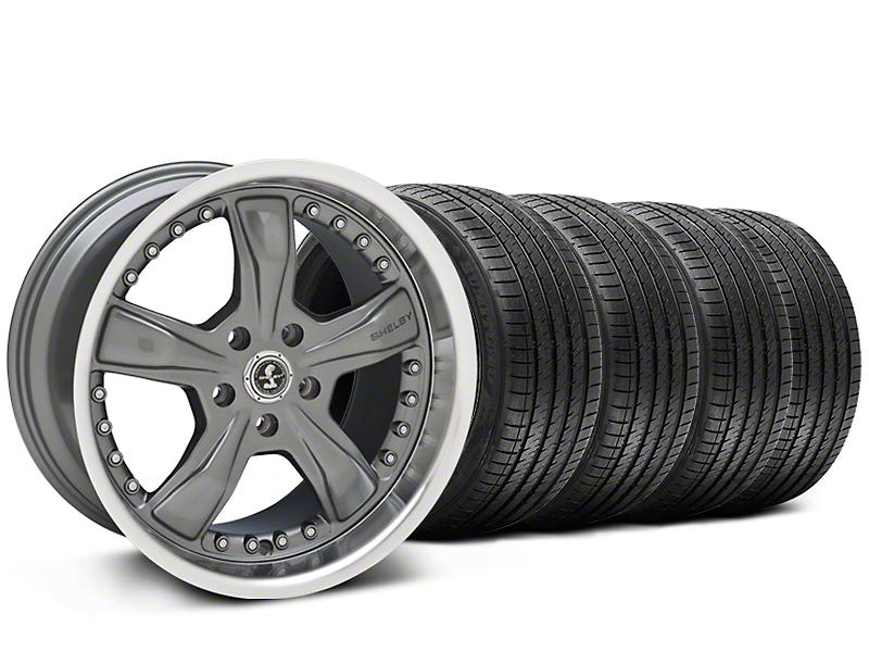 Staggered Shelby Razor Chrome Wheel & Sumitomo Tire Kit - 20x9/10 (05-14 All)
