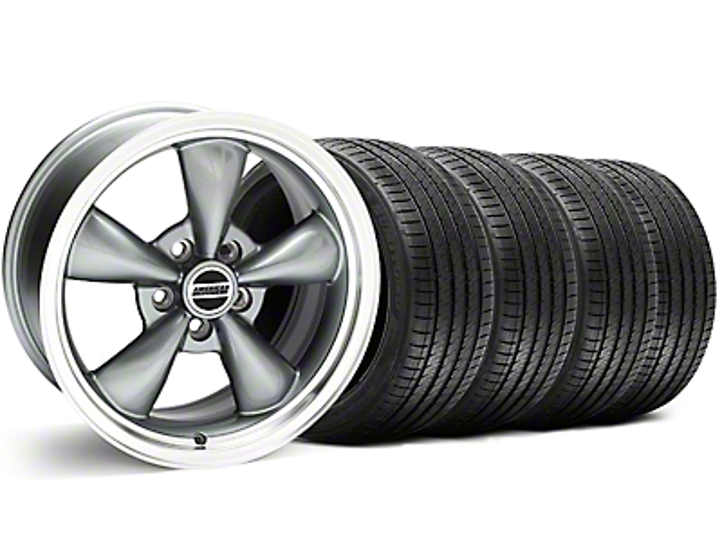 Bullitt Anthracite Wheel & Sumitomo Tire Kit - 18x8 (05-14 GT, V6)