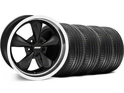 Bullitt Matte Black Wheel & Sumitomo Tire Kit - 18x8 (99-04 All)