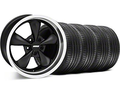 Bullitt Matte Black Wheel & Sumitomo Tire Kit - 18x8 (05-14 GT, V6)